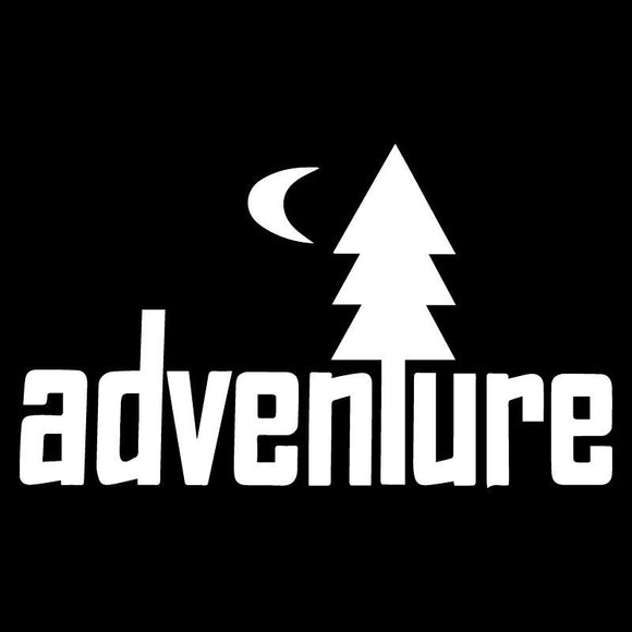 Adventure Vinyl Decal Car Truck Window Travel Camping Outdoors Woods Hiking JDM-Fun Fare Decals