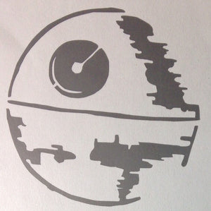 2x Star Wars Death Star Die Cut Vinyl Decal-Fun Fare Decals