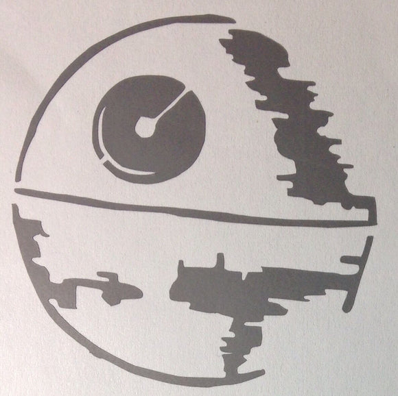 2x Star Wars Death Star Die Cut Vinyl Decal