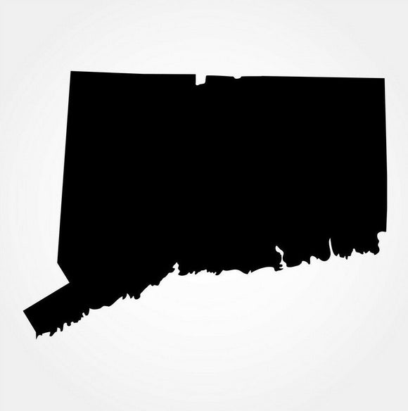 Connecticut Silhouette Die Cut Vinyl Decal-Fun Fare Decals