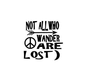 Not all who wander are lost-Fun Fare Decals