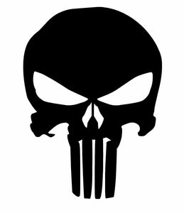 Punisher Vinyl Skull Decal Sticker Window Wall Car Bumper Laptop iPhone Oracal-Fun Fare Decals