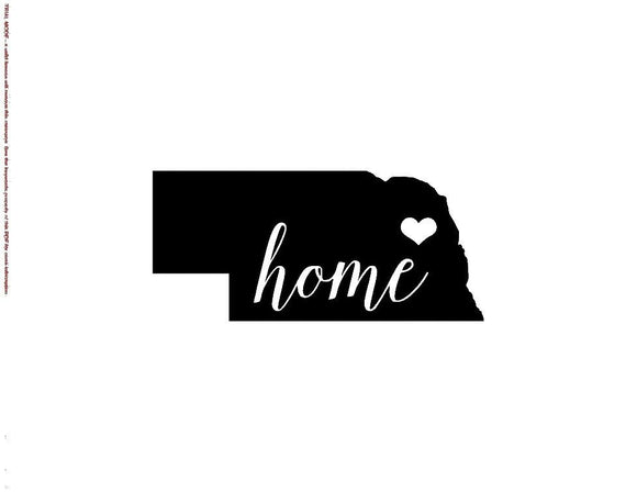 Nebraska Home Die Cut Vinyl Decal-Fun Fare Decals