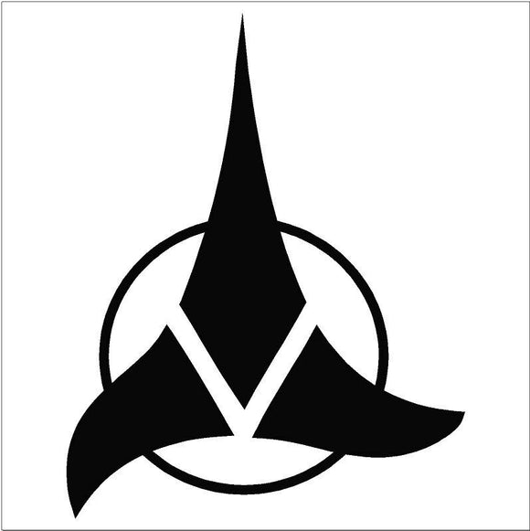 Klingon Empire Vinyl Die Cut Decal-Fun Fare Decals