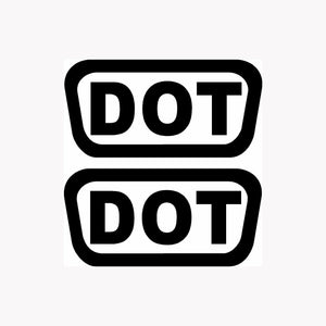 2x DOT Stickers Helmet Vinyl Decals Pack Shipping D.O.T. Motorcycle Bike Replace-Fun Fare Decals