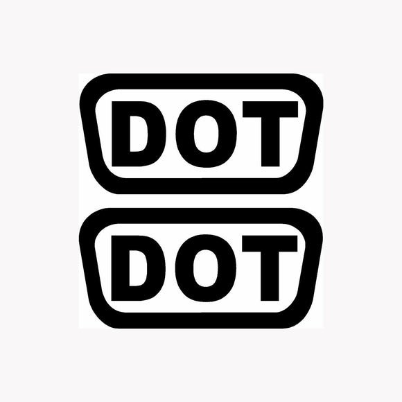 2x DOT Stickers Helmet Vinyl Decals Pack Shipping D.O.T. Motorcycle Bike Replace