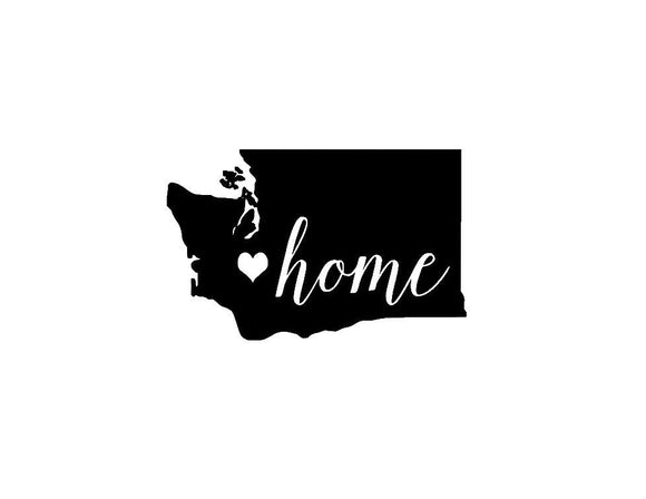Washington Home Die Cut Vinyl Decal-Fun Fare Decals