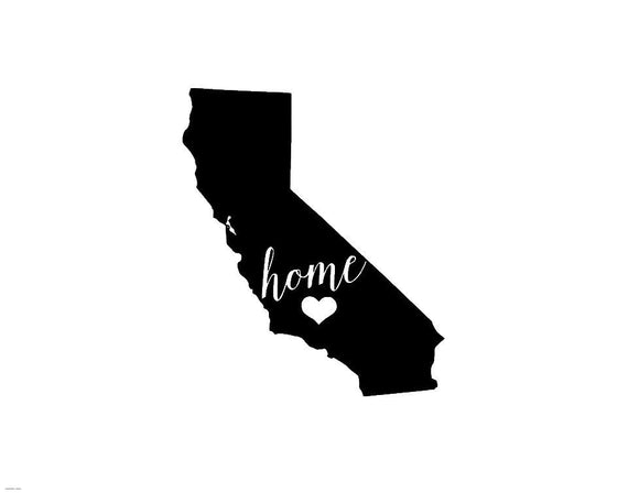 California Home Die Cut Vinyl Decal