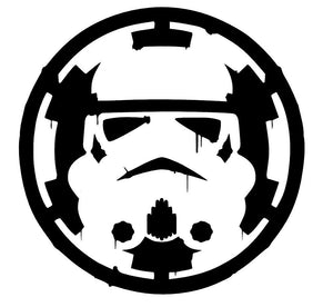 Star Wars Storm Trooper over Empire Sticker Vinyl Decal Car Laptop Window Oracal-Fun Fare Decals