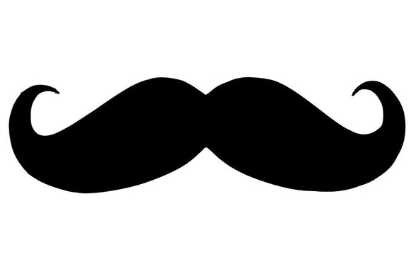 Mustache Die Cut Vinyl Decal-Fun Fare Decals