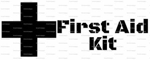 First Aid Kit Vinyl Sticker-Fun Fare Decals