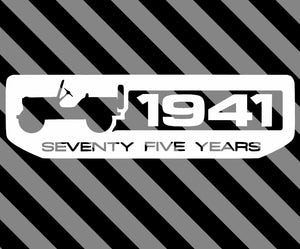 JEEP 75th anniversary LARGE vinyl decal-Fun Fare Decals
