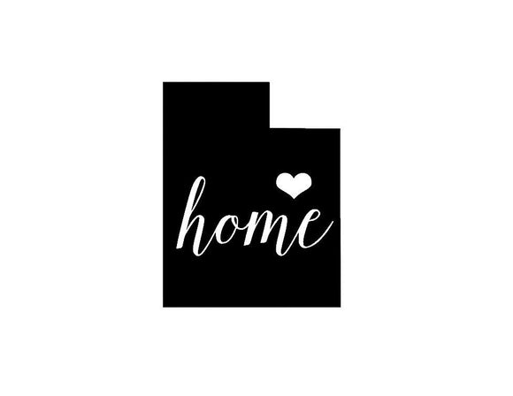 Utah Home Die Cut Vinyl Decal-Fun Fare Decals