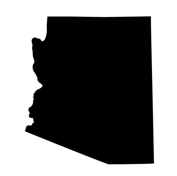 Arizona Silhouette Die Cut Vinyl Decal