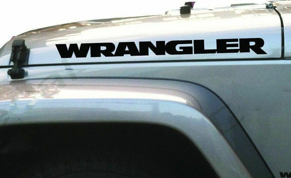 2x JEEP WRANGLER hood vinyl decal-Fun Fare Decals
