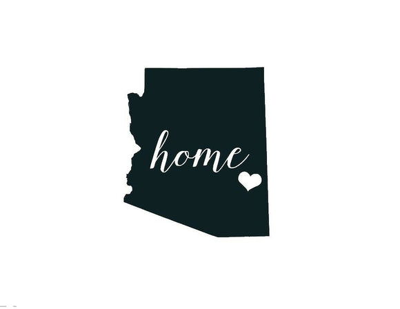 Arizona Home Die Cut Vinyl Decal-Fun Fare Decals
