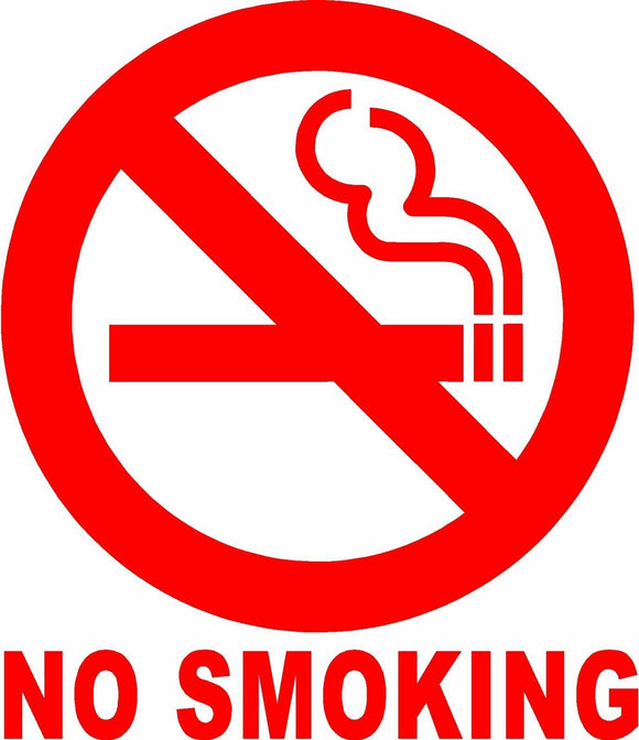 NO SMOKING Sign Vinyl Decal Sticker Circle
