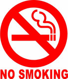 NO SMOKING Sign Vinyl Decal Sticker Circle-Fun Fare Decals