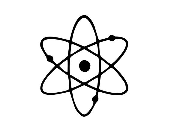 Atomic Symbol Vinyl Sticker Decal Wall Laptop Car Window Choose Color