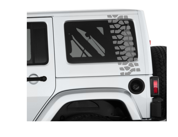 Jeep Tire Tread Die Cut Vinyl Decal-Fun Fare Decals