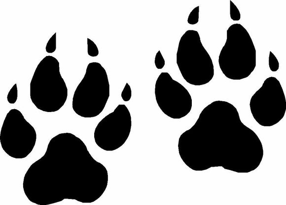 Wolf Paw Prints Vinyl Decal