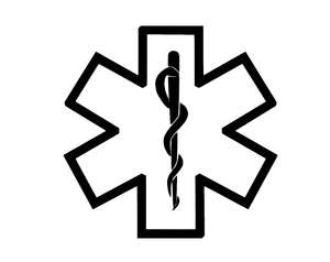 EMT Decal Car Window Nurse EREPLACEncy Medical Snake Star Sticker Vinyl ANY SIZE-Fun Fare Decals
