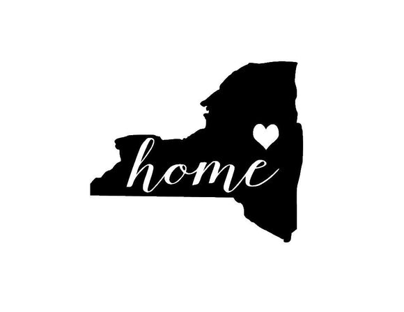 New York Home Die Cut Vinyl Decal-Fun Fare Decals
