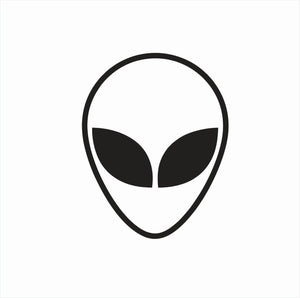 Alien Head Face Space Die Cut Vinyl Decal-Fun Fare Decals