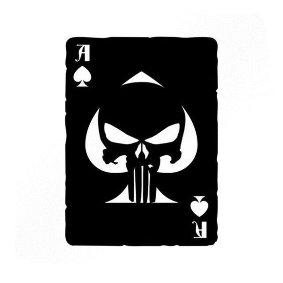 Punisher Ace Of Spades Old Playing Card Vinyl Decals-Fun Fare Decals