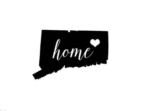 Connecticut Home Die Cut Vinyl Decal-Fun Fare Decals