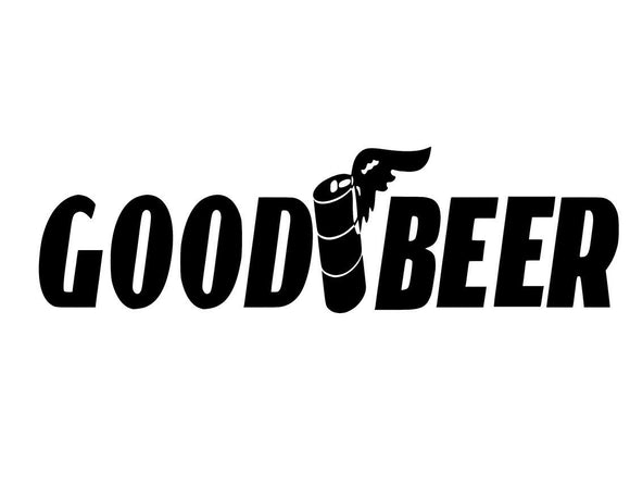 Good Beer Funny JDM Adult Car Truck Window Vinyl Decal Sticker.goodyear-Fun Fare Decals
