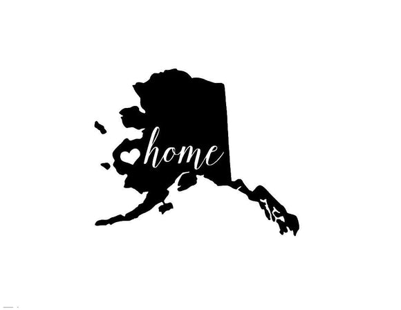 Alaska Home Die Cut Vinyl Decal