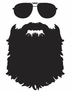 Beard sunglasses Die cut Vinyl Decal