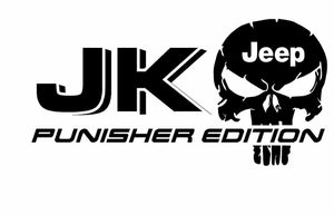 (2x) JK JEEP Punisher EDITION Vinyl decal