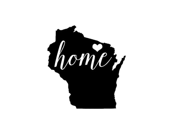 Wisconsin Home Die Cut Vinyl Decal-Fun Fare Decals