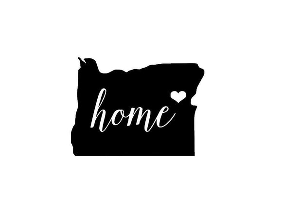 Oregon Home Die Cut Vinyl Decal-Fun Fare Decals