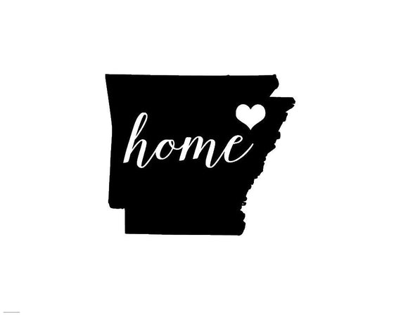 Arkansas Home Die Cut Vinyl Decal