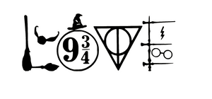 Harry Potter Inspired LOVE Vinyl Decal-Fun Fare Decals