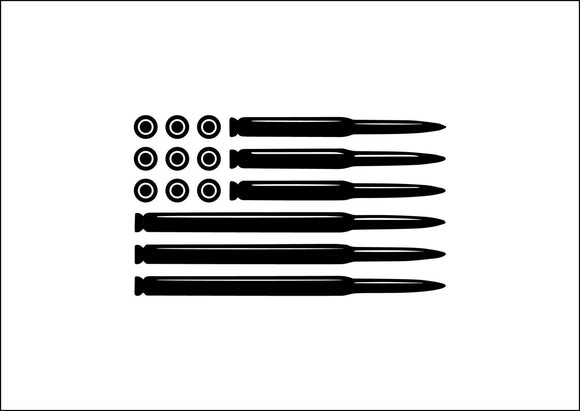 Bullet flag Die Cut Vinyl Decal-Fun Fare Decals