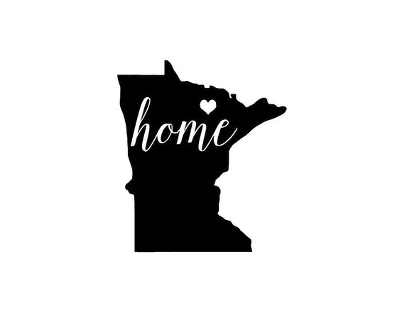 Minnesota Home Die Cut Vinyl Decal-Fun Fare Decals