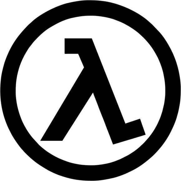 Half Life Die Cut Decal