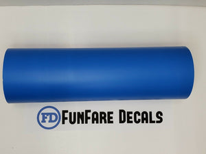 "Blue Oracal 631 12"" x 5ft. Roll Adhesive Backed Vinyl-Fun Fare Decals"