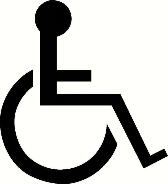 Handicap Symbol Vinyl Decal-Fun Fare Decals