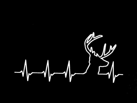 Deer Heartbeat Vinyl Decal-Fun Fare Decals