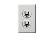 "(30) 1"" Small Mustache Vinyl Decal Wall Electric Outlet Funny Sticker Stache"