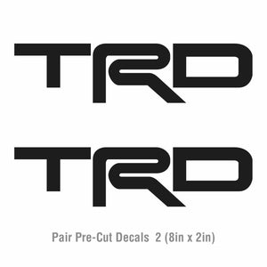 2x Toyota TRD Vinyl Decal-Fun Fare Decals