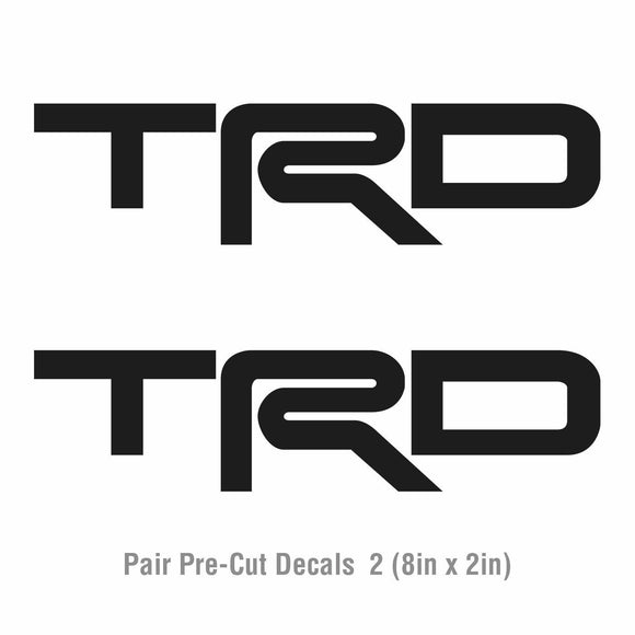2x Toyota TRD Vinyl Decal