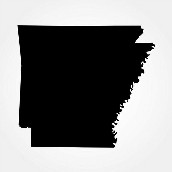 Arkansas Silhouette Die Cut Vinyl Decal