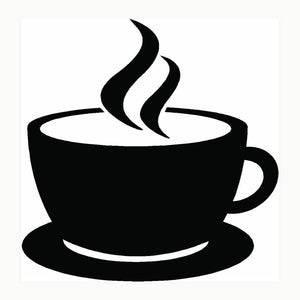 Coffee Cup Vinyl Decal-Fun Fare Decals
