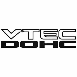 2x VTEC DOHC Die Cut Vinyl Decal